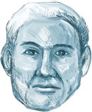 Blue Man Identikit Drawing Stock Photography