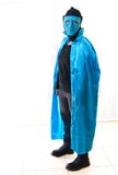 Blue man mask costume for Halloween / Purim Stock Photography