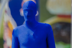Blue Man Human Advertising Royalty Free Stock Photography