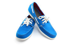 Blue man shoes Royalty Free Stock Images