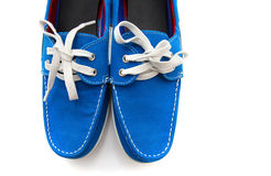 Blue man shoes Royalty Free Stock Photography