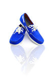 Blue man shoes Stock Images