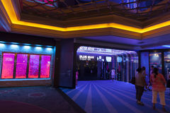 Blue Man Theater Entrance at Monte Carlo in Las Vegas, NV on Aug Royalty Free Stock Photography