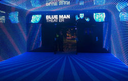 Blue man theater Stock Photos