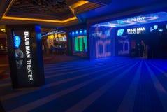 Blue man theater Stock Image