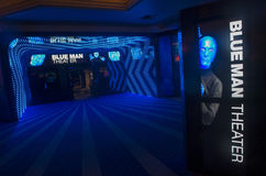 Blue man theater Royalty Free Stock Images