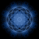 Blue mandala Royalty Free Stock Photography