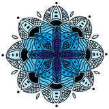 Blue Mandala. A blue mandala based on my hand drawn artwork Royalty Free Stock Photo