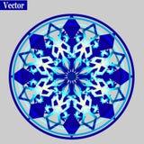 Blue mandala circle. Blue gradient Mandala. Round Ornament Pattern. Oriental pattern Vector illustration Royalty Free Stock Image