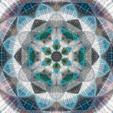Blue sky mandala effect triangle patchwork. Blue mandala effect triangle patchwork Stock Images