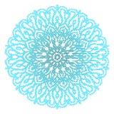 Blue  mandala isolated on white  background Royalty Free Stock Image