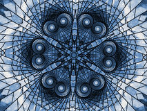Blue mandala made of hearts Royalty Free Stock Images