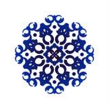 Blue mandala pattern Stock Image