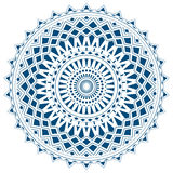 Blue mandala from simple shapes isolated Royalty Free Stock Images