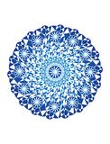 Blue mandala on a white background. Artistic background. Object of rotation, Fractal. Vector graphics. Blue mandala on a white background with lots of Royalty Free Stock Image
