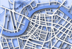 Blue map Stock Photo