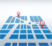 Blue map. Isometric  map of city Stock Image
