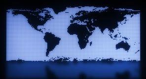 Blue map illustration Stock Image