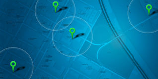 Blue map  POI Stock Photography