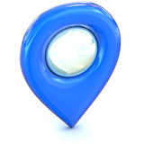 Blue Map pointer icon Royalty Free Stock Photography