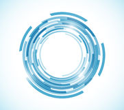 Blue map technology circle graphic illustration. Design over a white background Royalty Free Stock Image