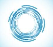 Blue map technology circle graphic illustration Royalty Free Stock Image