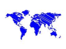 Blue map world Stock Photography