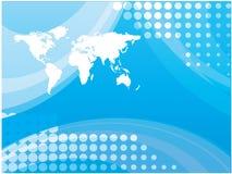 Blue map world Royalty Free Stock Photo