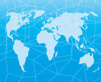 Blue map of the world. Stock Images