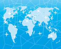 Blue map of the world. Royalty Free Stock Photography