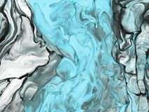 Free Blue Marble Abstract Hand Painted Background Royalty Free Stock Photography - 107131107