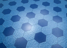 Blue Marble Floor Hexagonal Tiles Royalty Free Stock Image