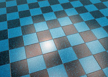 Blue Marble Floor Tiles Stock Photo
