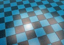 Blue Marble Floor Tiles Stock Photo