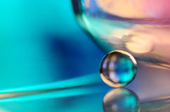 Blue marble and glass stock images