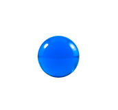 Blue marble. Over white background Royalty Free Stock Photo