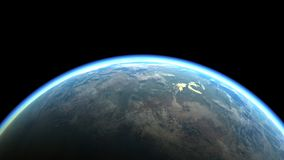 The Blue Marble - Planet earth, the planet of Life. Illustration. Royalty Free Stock Photos
