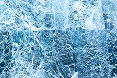 Blue marble with white lines and the effect of frost Abstract background royalty free stock image