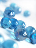 Blue Marbles Stock Photography