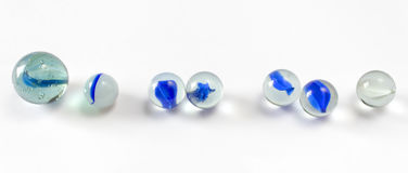 Blue Marbles Royalty Free Stock Images