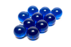 Blue marbles Royalty Free Stock Photo