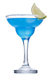 Blue margarita cocktail. Maragrita. Traditional summer refreshing cocktail Royalty Free Stock Image