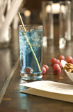 Blue marin coctail Royalty Free Stock Photo