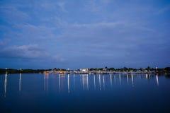 Blue Marina Stock Image