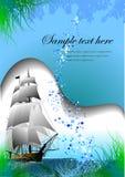 Blue marine background Royalty Free Stock Images