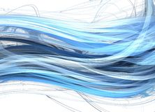 Blue marine waves. Fractal abstraction of blue marine waves Stock Images