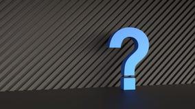 blue mark question Ελεύθερη απεικόνιση δικαιώματος