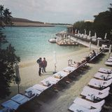 Blue Marlin Ibiza UAE private beach Royalty Free Stock Image