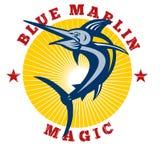 Blue marlin jumping magic Royalty Free Stock Images