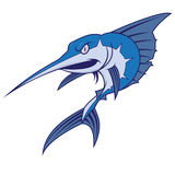 A blue marlin mascot Royalty Free Stock Image